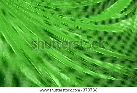 Green Draped Sequins - stock photo
