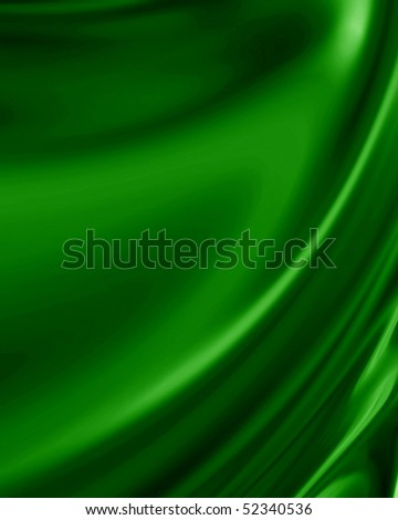 green drapery with some folds in it - stock photo