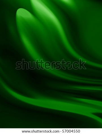 green drapes with some fold in it - stock photo