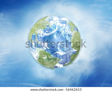 Green earth concept illustration - stock photo