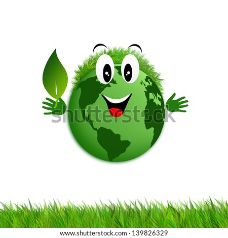 Green earth for ecology - stock photo