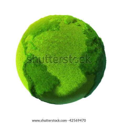 Green Earth - the entire surface is covered with grass