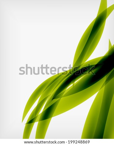 Green eco abstract line composition design template with copy space