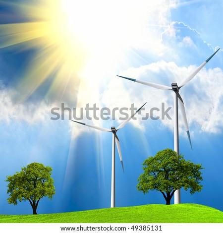 Green Ecology - stock photo