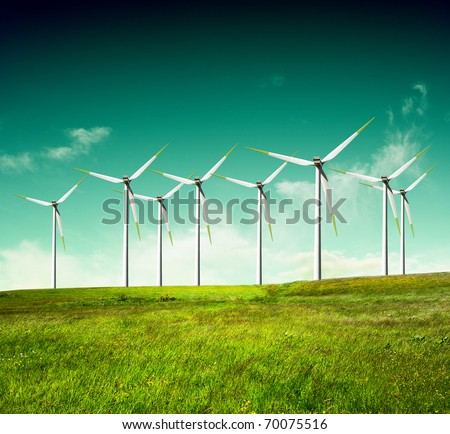 Green ecology,Alternative energy - stock photo