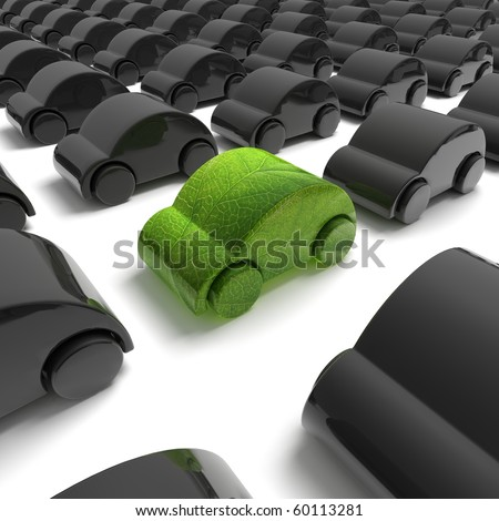green ecology car - stock photo