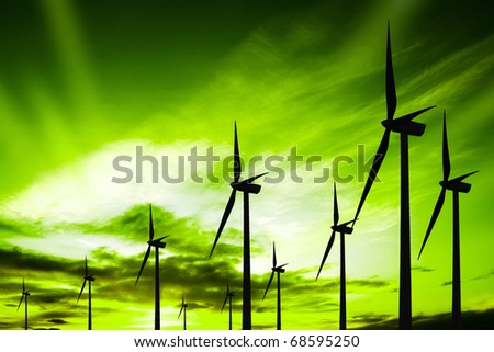 Green ecology wind - stock photo