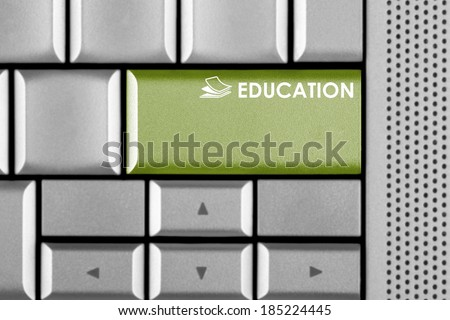 Green Education key on a computer keyboard  - stock photo