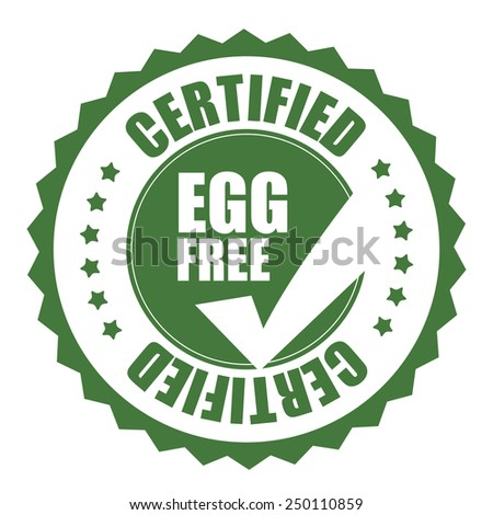 green egg free certified icon, tag, label, badge, sign, sticker isolated on white