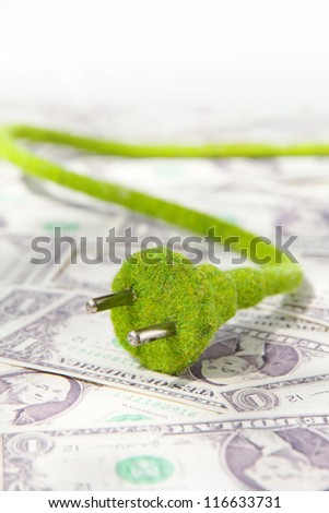 green electric plug concept - stock photo