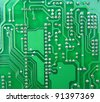 green electronics board texture - stock photo