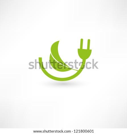 Green energy concept sign - stock photo