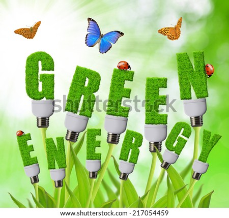 Green energy concepts  - stock photo