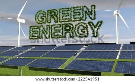 Green Energy/Green Energy  - stock photo
