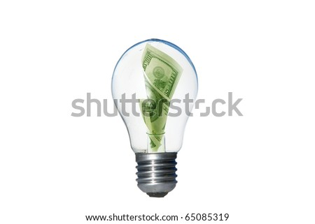 Green Energy lightbulb