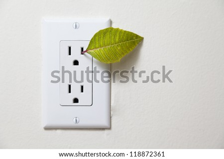 green energy / recycle - from outlet - stock photo