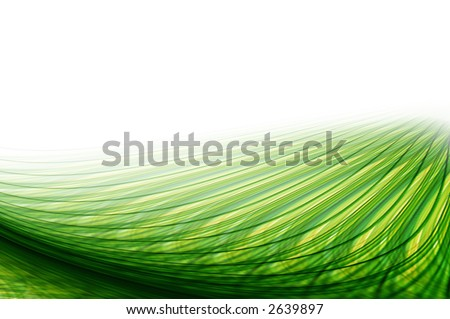 Green Energy Waves. - stock photo
