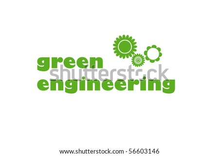 green engineering illustration concept - stock photo