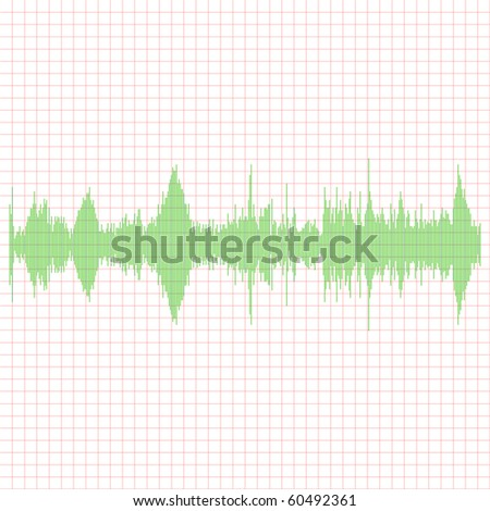 Green Equalizer - stock photo