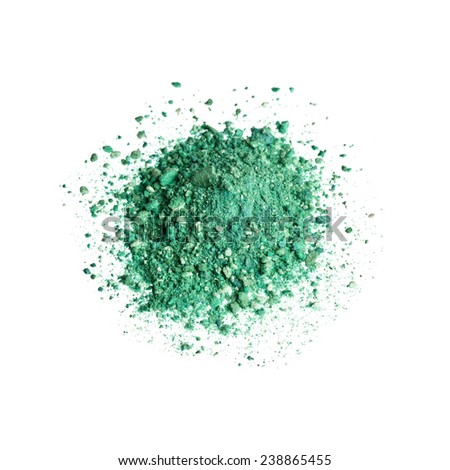 Green Eyeshadow - stock photo