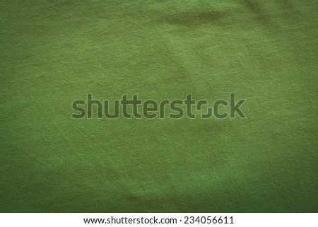 Green fabric background - stock photo