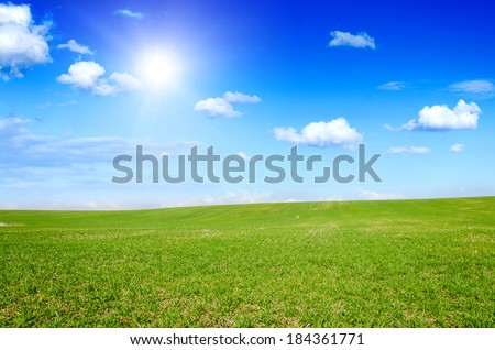 green field background