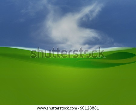green field cloud illustration