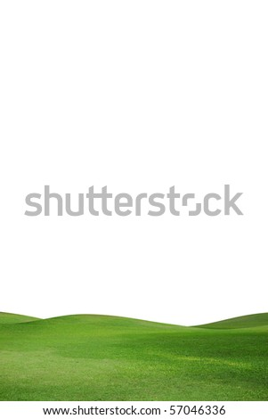 green field isolated against a white background - stock photo