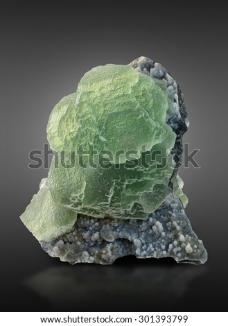 Green fluorite from Dalnegorsk, Russia.