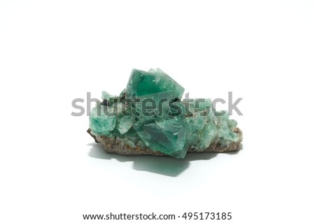 Green fluorite?isolated on white background