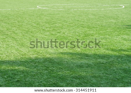 Green football Soccer field - stock photo