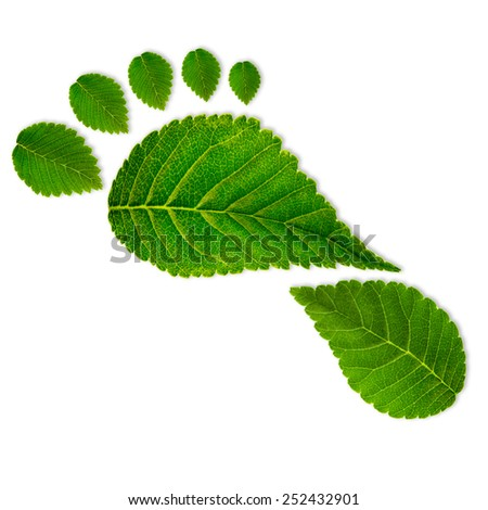Green footprint, eco concept - stock photo