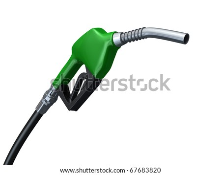 green fuel pump (clipping path)