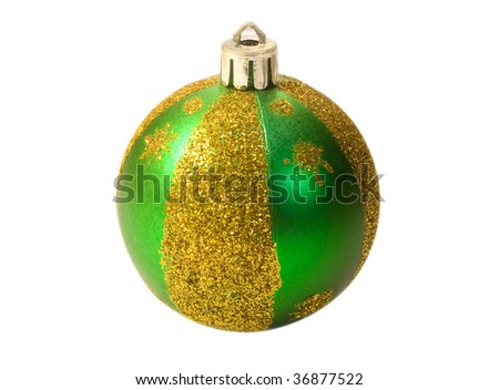 green fur-tree sphere isolated on a white background.