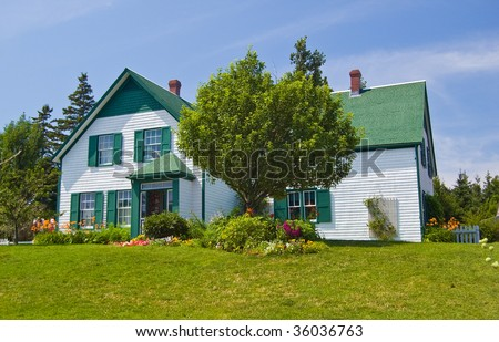 Green Gables Heritage Farm, shot a bright Sunny Day in Cavendish - stock photo
