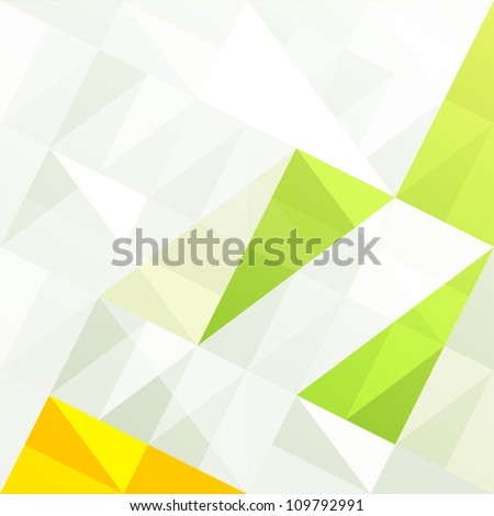 Green gamut geometric abstract background. Raster version, vector file available in portfolio. - stock photo
