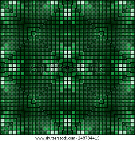 green geometrical seamless pattern from dots