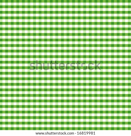 Green Gingham Check Pattern for tablecloths, napkins, curtains, home decorating, arts, crafts, fabrics, scrapbooks, backgrounds. - stock photo