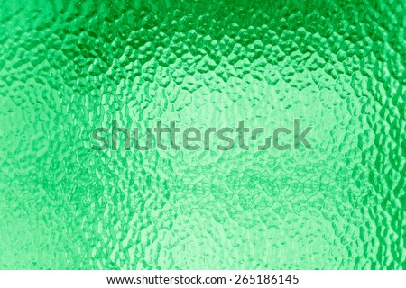 Green glass for texture or background - stock photo