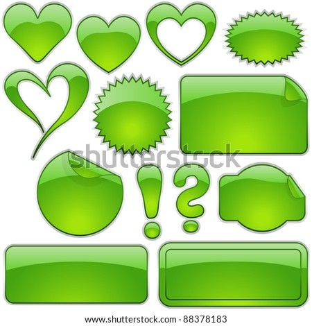 Green Glass Shapes - stock photo