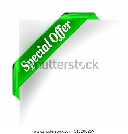 Green glass top banner. Part of a series. - stock photo