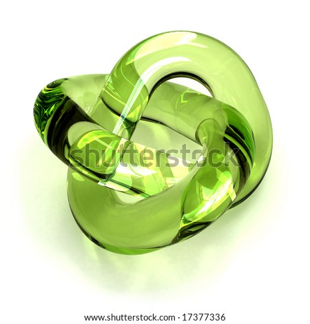 green glass torus knot