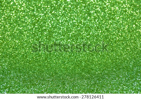 green glitter christmas abstract background - stock photo