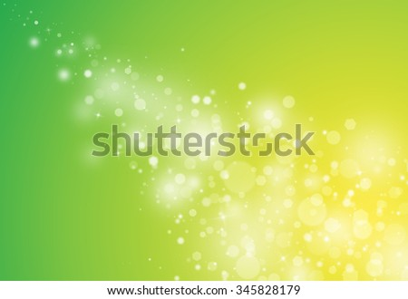 Green glitter sparkle defocused rays lights bokeh abstract chistmas background.