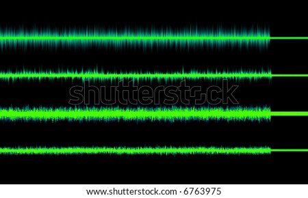 Green glow Radio waves in different forms