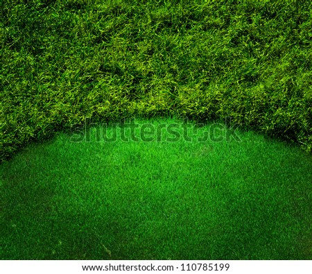Green Golf Background Grass Texture - stock photo