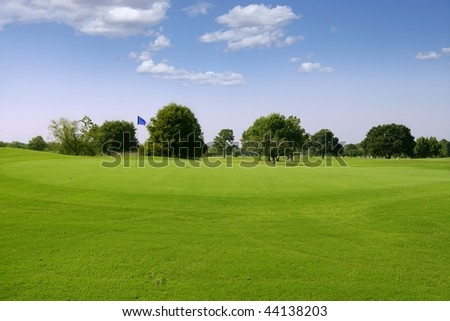 Green Golf grass landscape in Texas leisure sport outdoor - stock photo