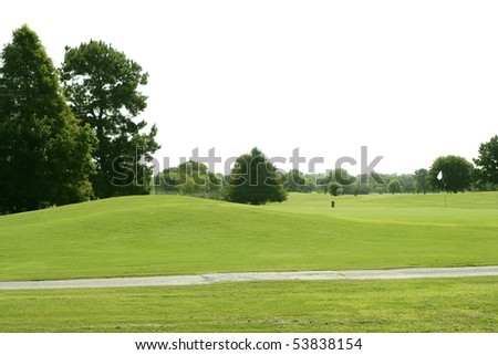 Green Golf grass landscape in Texas leisure sport outdoor