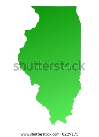 Map Illinois Stock Vector Shutterstock - Illinois in usa map