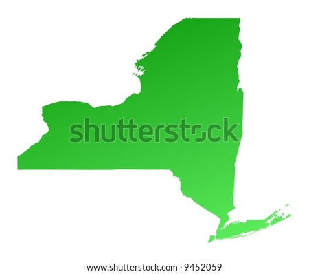 Map Us State New York Stock Vector Shutterstock - New york map us